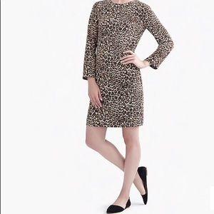 J.Crew Crepe Shift Dress in Cat Print Size 12